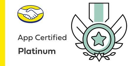 App certified platinum mercado livre
